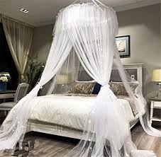 Amazon.com: Lotus Karen Bed Canopy - Elegant Lace Round Hoop ...