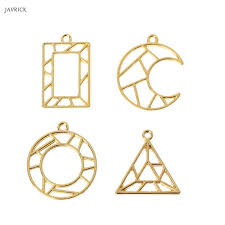 2019 geometric shape open bezel charm pressed flower blank frame hollow pendant for diy jewelry making from shukui 33 18 dhgate com