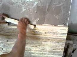 O papel de parede adesivo é para você que: Colocacao De Pedra Palito Caxambu Youtube