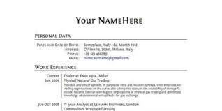 Proper Format For A Resume