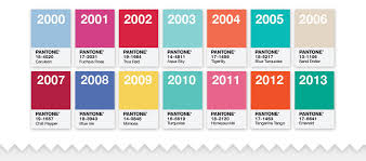 Pantone Color Chart 2013 Decades Of Color Sunny Slide Up