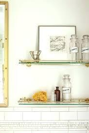 bathroom shelving units glass shelving bathroom glass and brass vintage glass shelves above toilet 3 tier