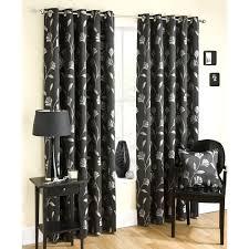 Black Patterned Curtains Cool Decorating Design