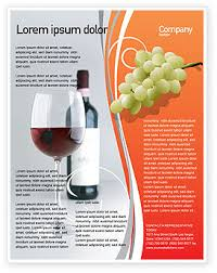 Publisher Flyers Bottle Of Wine Flyer Template Background In Microsoft Word