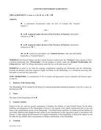 Sample Partnership Agreement Form 4 Limited Partnership Agreement Forms Word Pdf Sample Form