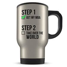 mba graduation travel mug gifts mba graduates master or business administration coffee cup for