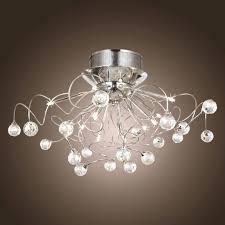 chandeliers brushed nickel mini crystal chandelier full size of bedroomhallway ceiling lights led flush light
