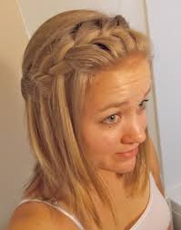 Plaiting Hair Style waterfall braid for mediumlength hair cute and easy to do 4383 by wearticles.com