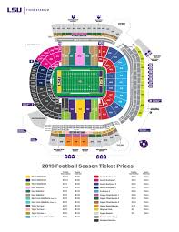 Usu Football Stadium Seating Chart Tradition Fund Seating And Parking Charts Tiger Stadium