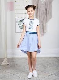Платье трикотажное <b>Luminoso</b> для <b>девочек</b>-in Платья from ...