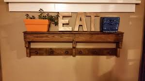 Coat Rack Shelf Diy DIY Easy Pallet Shelf and Coat Rack Wooden Pallet Furniture 75