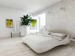 Nice Bedroom Nice Bedroom Interior With White King Size Bed In Front Of Brick