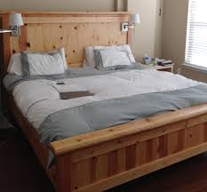 Diy Wood King Size Bed Frame With Headboard And Footboard Attachments Built  In Lighting Pictures 05