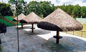 Conveniently located south of uvita, in. Kliart Quiosque Sape Piacava Telha Deck Pergolado Forro De Bambu Quiosque De Piacava