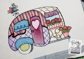 Embroidery Camper Designs
