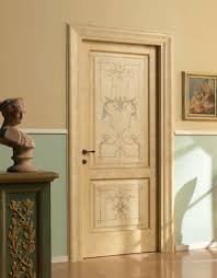 DONATELLO 1114/Q Sponged coating Donatello Classic Wood Interior Doors |  Italian Luxury Interior