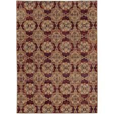 oriental weavers andorra 6883a red gold area rug