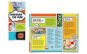 Fun Brochure Templates Kids Club Brochure Template Design
