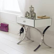 Mirrored Side Tables Bedroom Silver Side Tables Zoom Diy Silver Leaf Stump Table With Spray