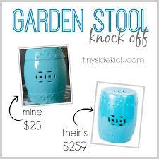 ceramic garden stools. Painted Second Hand Garden Stool {a Knock Off} Ceramic Stools R