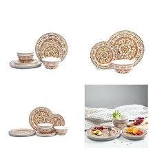 melamine dinnerware set for 4 piece outdoor plates dishwasher safe plate sets uk