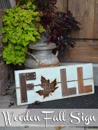 celebrate and decorate for the cooler temps and changing leafs of fall with a diy wooden