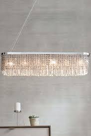 next kensington 6 light linear pendant clear