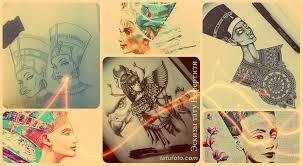 эскизы тату нефертити рисунки для тату фото примеры значение