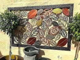 stirring exterior wall art metal classy best outdoor ideas on kids garden designs