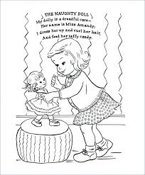Coloring Pages Of Chucky Doll Terrific Doll Coloring Pages And