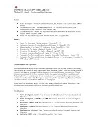 Investigator Resume Sample Cover Letter Sample Fraud Investigator Resume Bank Job Description 10