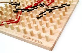 Wooden Peg Board Game Viahart Rubber Road Rubber Band Wooden Board Game And Pegboard 24