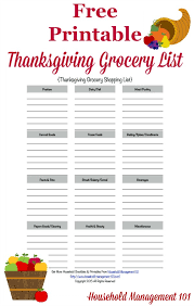 grocery list template printable printable thanksgiving grocery list shopping list