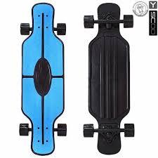 """<b>Скейтборд</b> пластиковый Y-Scoo <b>Longboard</b> Shark Tir 31"""" <b>408</b>-<b>B</b> с ..."""