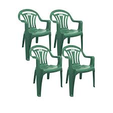 Image Table Plastic Chair Low Back Plastic Patio Garden Chair Pack Of Green Amazon Uk Plastic Patio Chairs Amazoncouk
