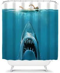 jaws shower curtain shark shower curtains shower curtain shark ocean home decor bathroom decor