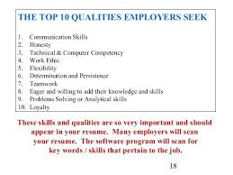 Skills To Put On An Application Qualities To Put On A Resume Examples Of Good Skills To Put On A