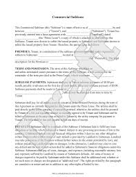 Sublet Agreement Commercial Sublease Agreement Form Template With Sample Sublet 10