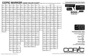 Copic Chart Printable Copic Marker Blank Hand Color Chart
