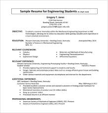 Engineering Internship Resume Pdf Free Download Template All Best