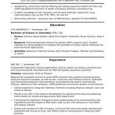 Sample Resume Entry Level Environmental Science Refrence Objectives ...