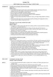 Analyst Relations Manager Resume Samples Velvet Jobs