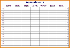 Printable Appointment Calendar 2015 50 Weekly Appointment Calendar Template Culturatti