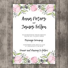 Wedding Invitation Downloads Floral Wedding Invitation Template On Wood Vector Free