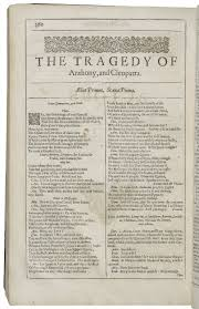 summary of two gentlemen of verona all s well that ends well  antony and cleopatra shakespeare library opening of antony and cleopatra in the second folio