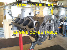 coffee table bmw v8 6l engine coffee table cet block build