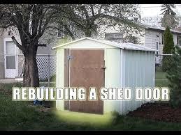 rebuilding a shed door you