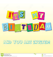 Invitation Templates Birthday Birthday Invitation Template Stock Vector Illustration Of Concept 22