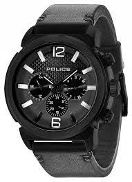 police mens concept black leather watch 14377jsb 02a police 14377jsb 02a