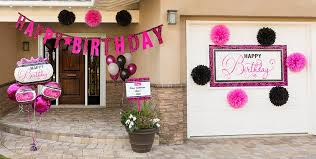 ... Pink & Black Birthday Party Supplies.